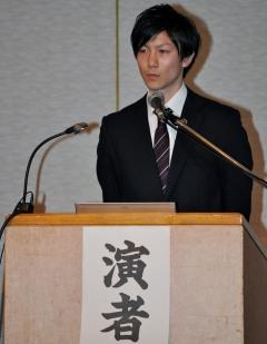 学術奨励賞を受賞した曾根祥仁理学療法士の演題発表